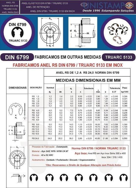 Anel rs din 6799