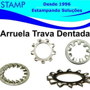 Arruela trava dentada