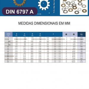 Arruela dentada DIN 6797A