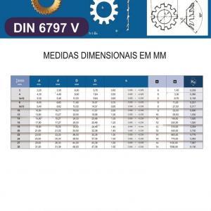 Arruela Dentada DIN 6797V