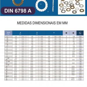 Arruela Dentada DIN 6798A