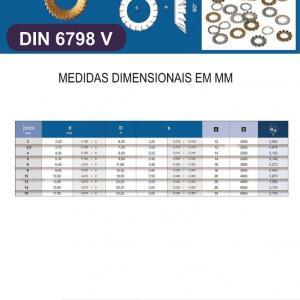 Arruela Dentada DIN 6798V