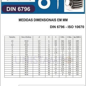 Arruela Mola prato DIN 6796