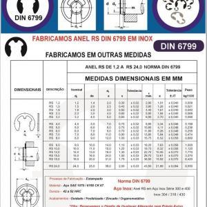 Anel RS TRUARC 5133 DIN 6799