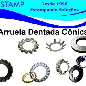 Arruela dentada conica